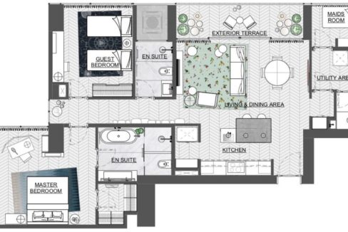Hyde by Wanders & Yoo North Tower 2 Bedroom Apartment