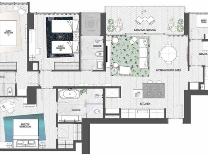 Hyde by Wanders & Yoo North Tower 3 Bedroom Apartment