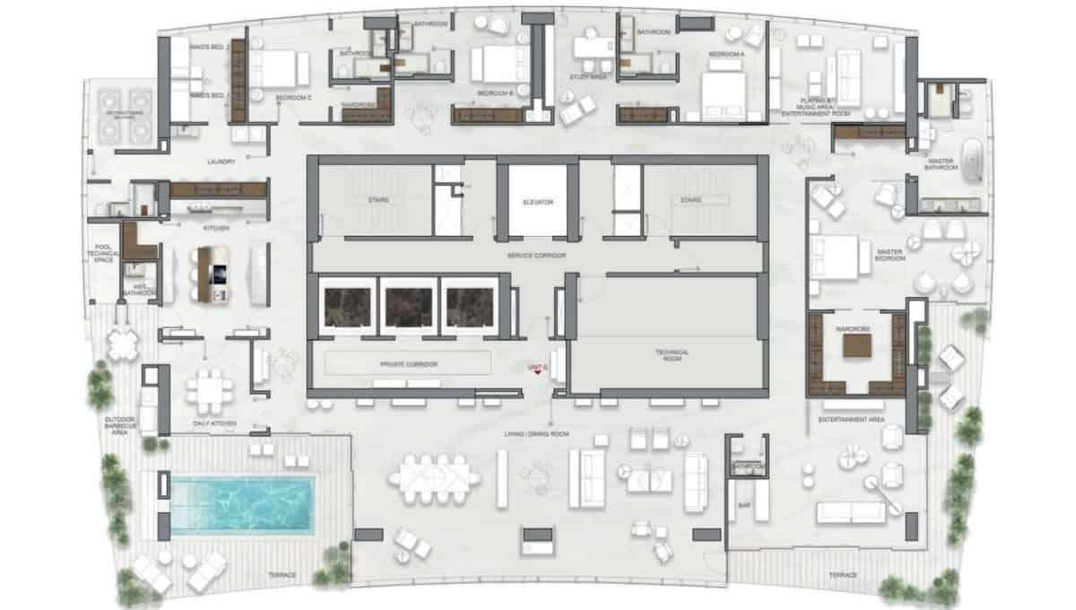 La Maison by Fendi Casa Penthouse G