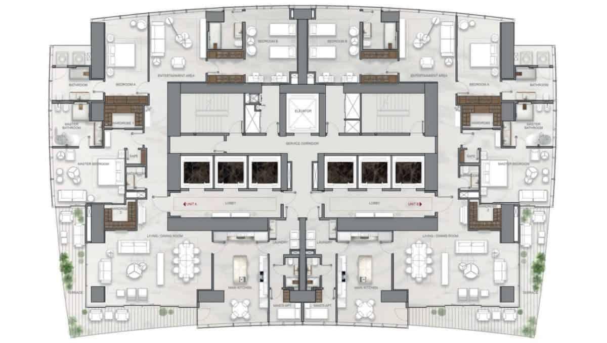 La Maison by Fendi Casa Apartments A, B