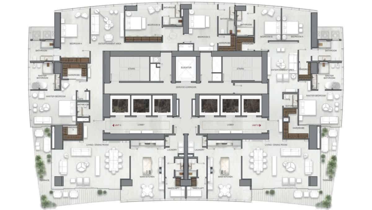 La Maison by Fendi Casa Apartments C, D